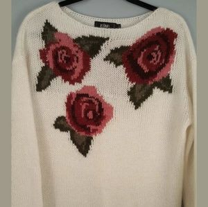 Oversized Loose Knitted Wool/mohair Pullover small